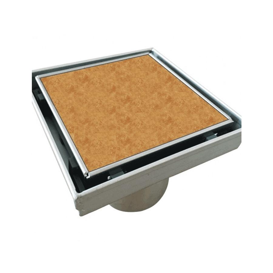 Square 50mm 316 marine grade stainless steel tile insert grate
