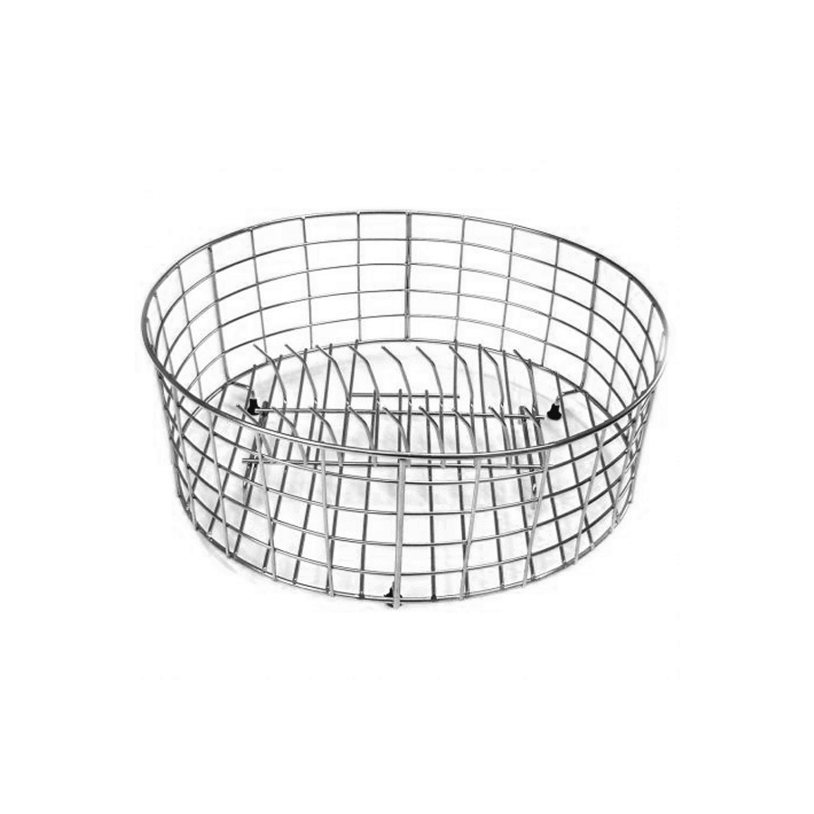 Stainless steel round wire rack with removable plate holder