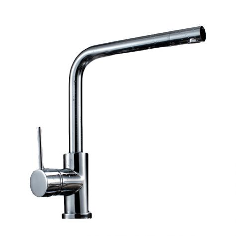 Chrome gooseneck sink mixer