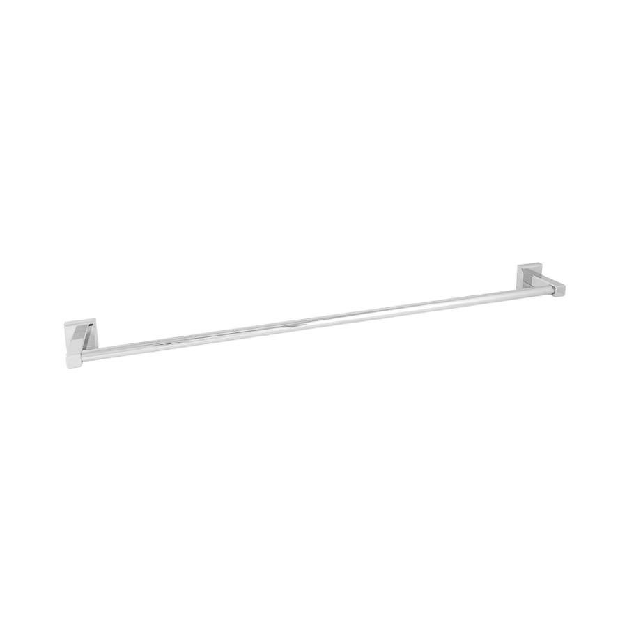 bathroom round towel rail single 800mm chrome