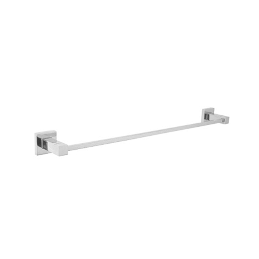 Square stainless steel single towel holder rail