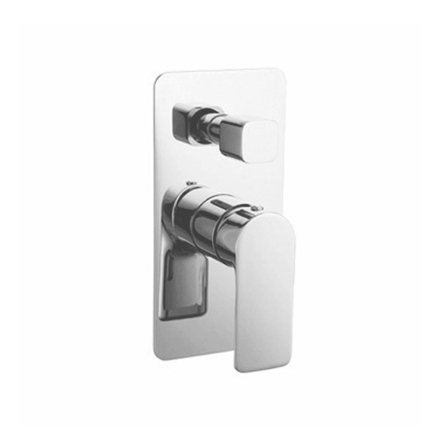 Chrome bath shower diverter mixer