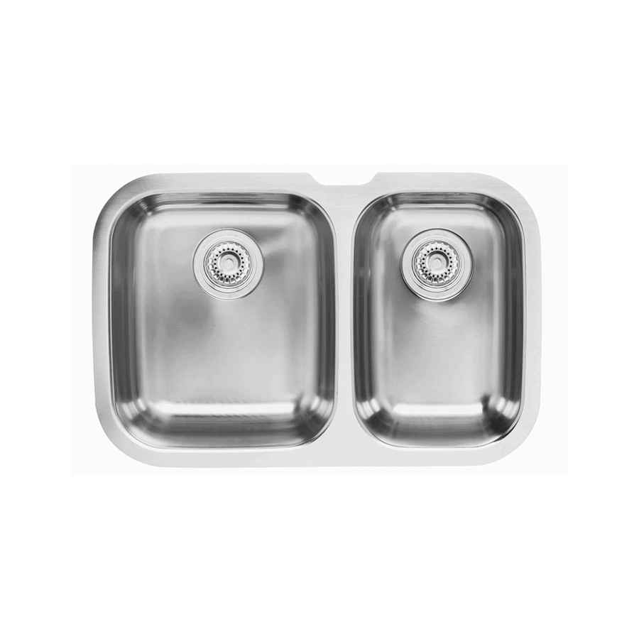 Stainless steel one and a quarter bowls undermount with basket wastes
