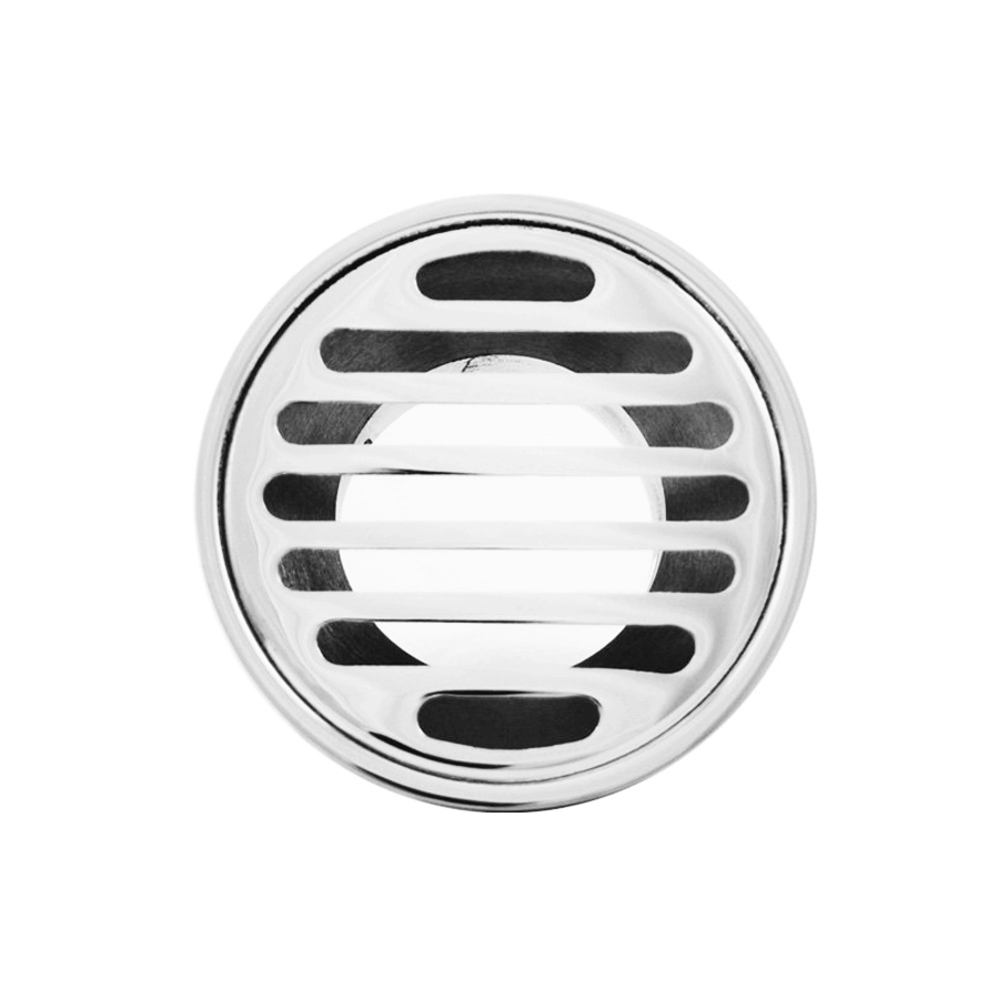 Round chrome 80mm diameter 50mm outlet floor grate