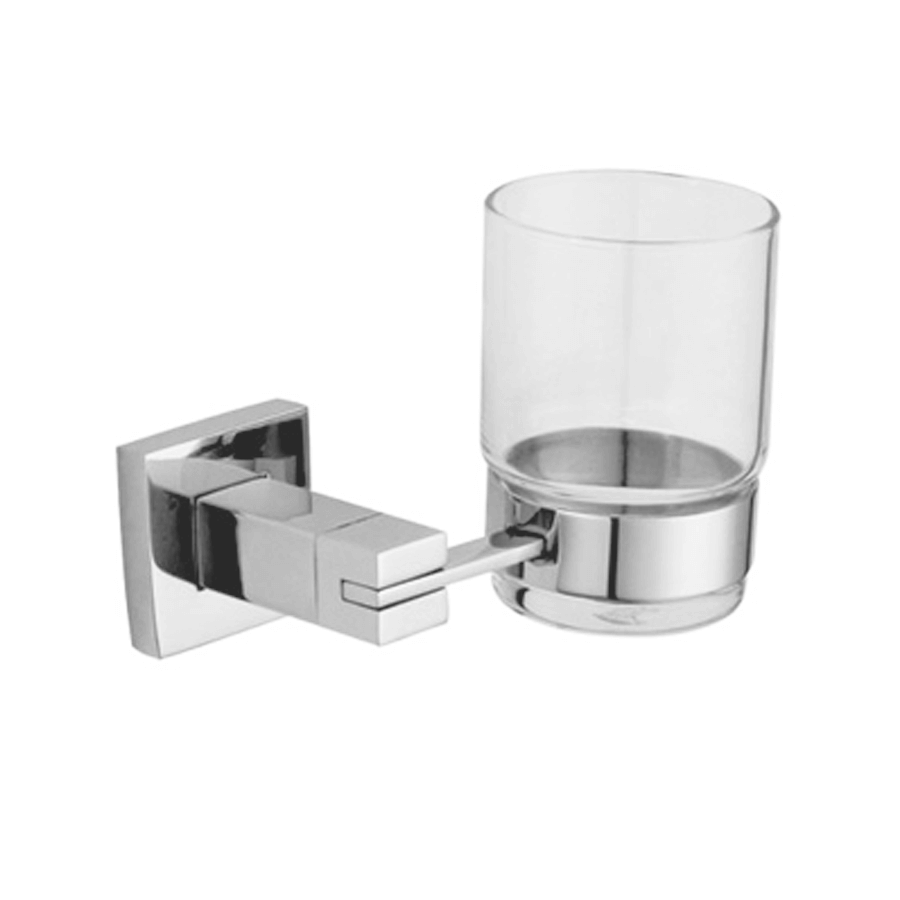 Square stainless steel wall toothbrush tumbler holder