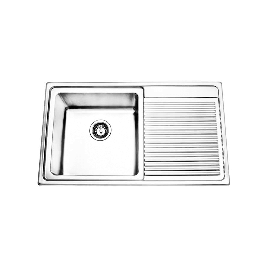 Stainless steel laundry trough and drainer
