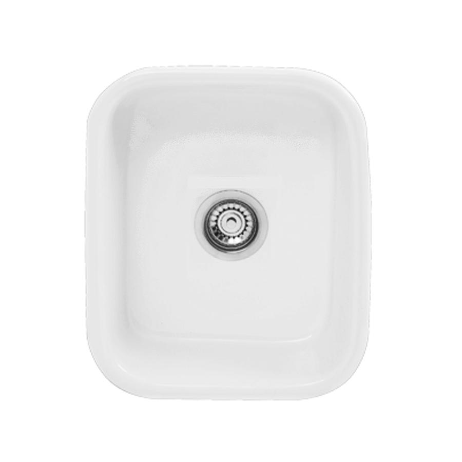 white ceramic 22 litre laundry trough