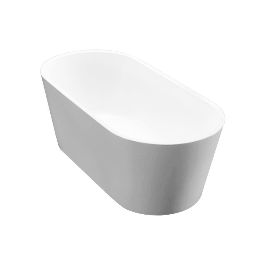 Round freestanding white acrylic 1500mm bath