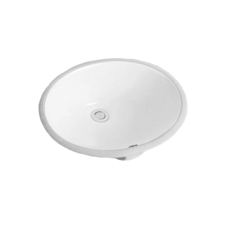 white ceramic round undermount bathroom basin