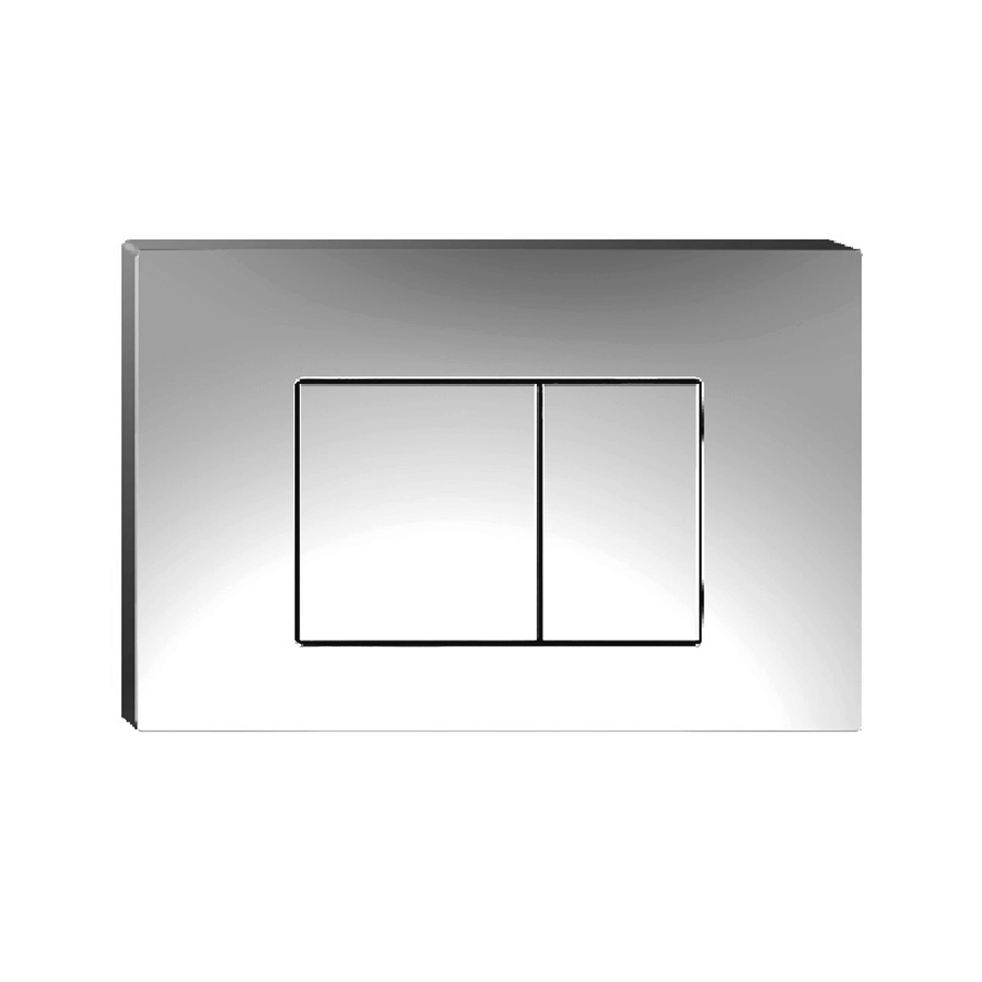 Square dual flush button chrome