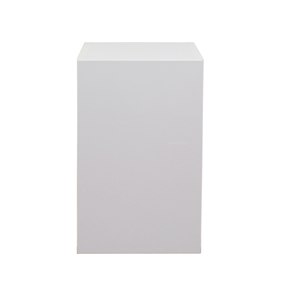White gloss single door wall cabinet 450mm