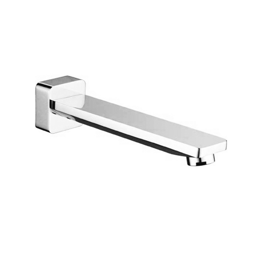 Modern chrome wall bath or basin spout with attached mixer