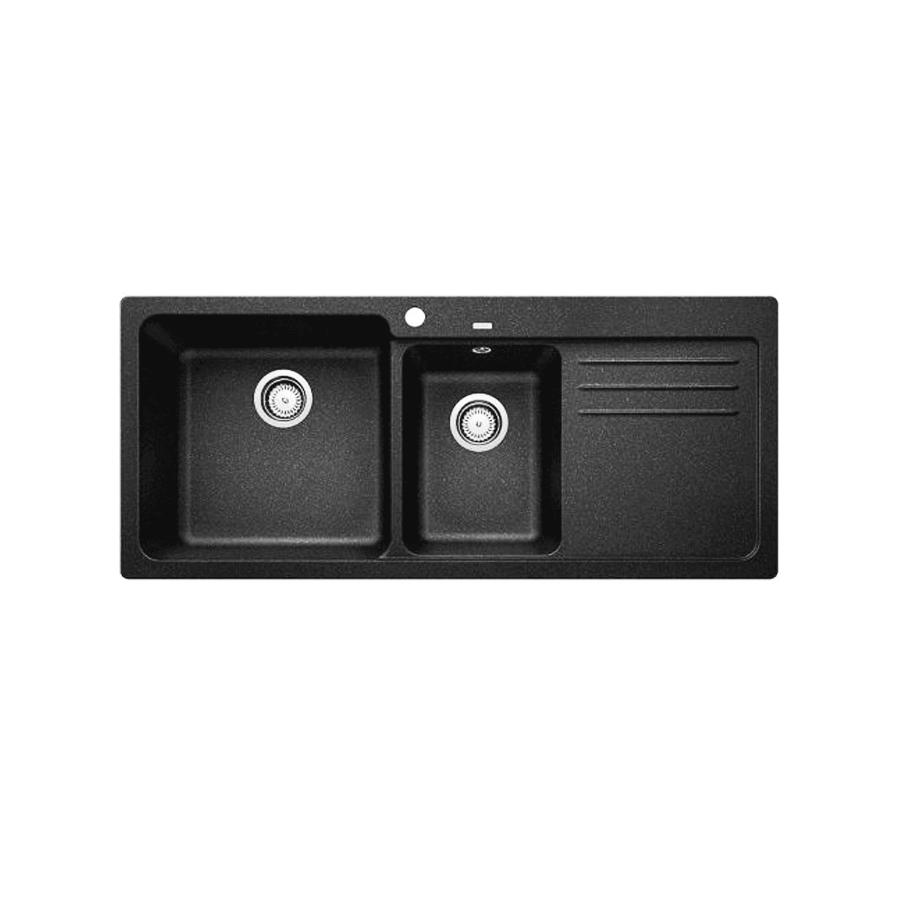 Kitchen Sink Black: Composite Granite - Blanco NAYA8 175 Sink Black