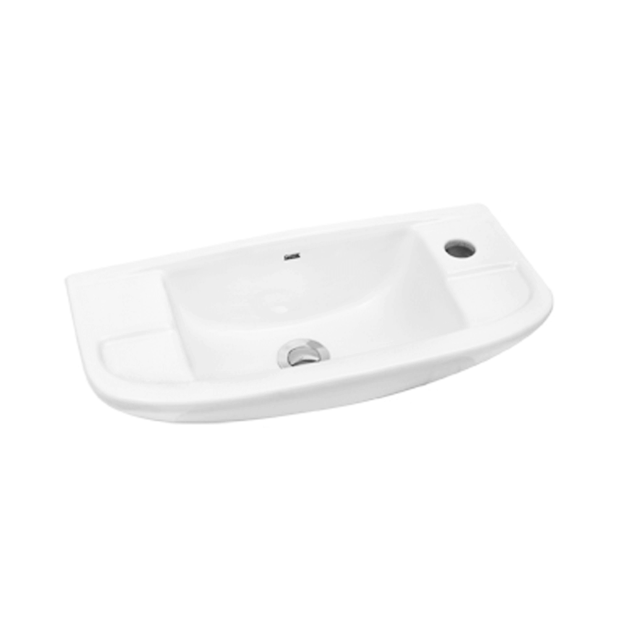 white ceramic square wall hung bathroom basin