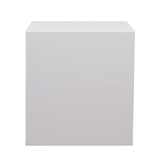 White gloss single door wall cabinet 500mm