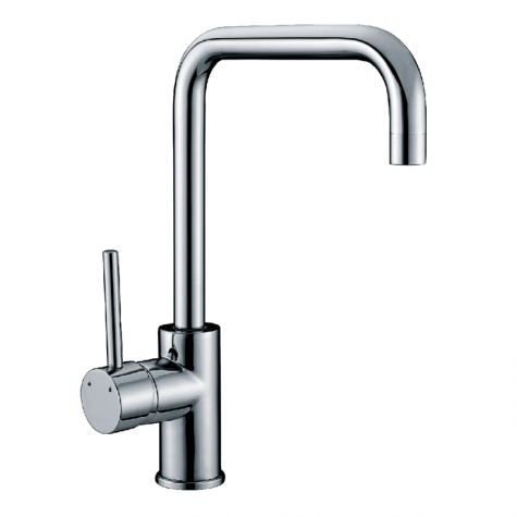 Gooseneck chrome sink mixer