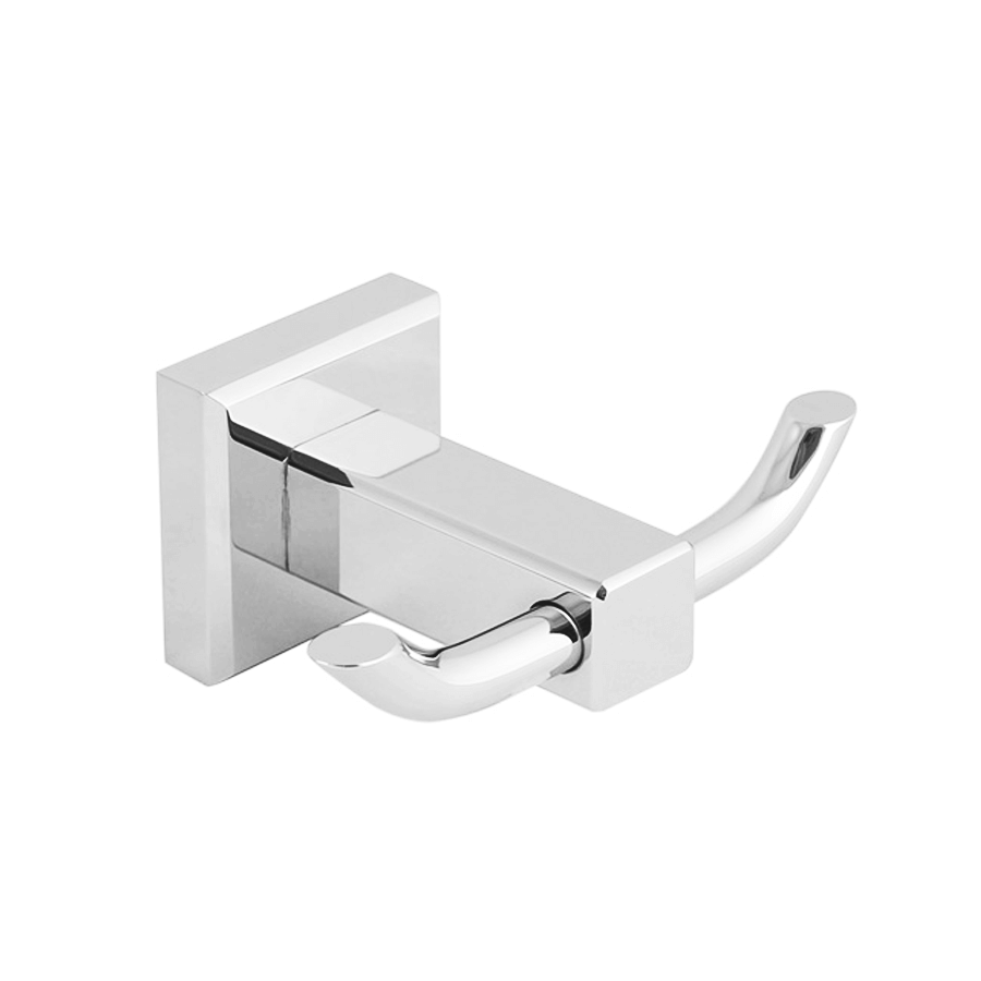 bathroom round double robe hook chrome