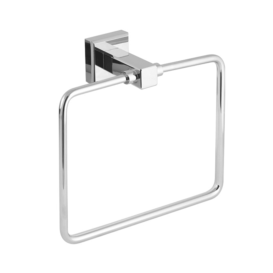 bathroom round towel ring square chrome