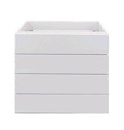White gloss for drawer 600mm base cabinet