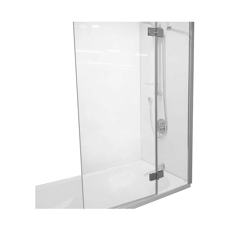 bi-fold glass bath screen