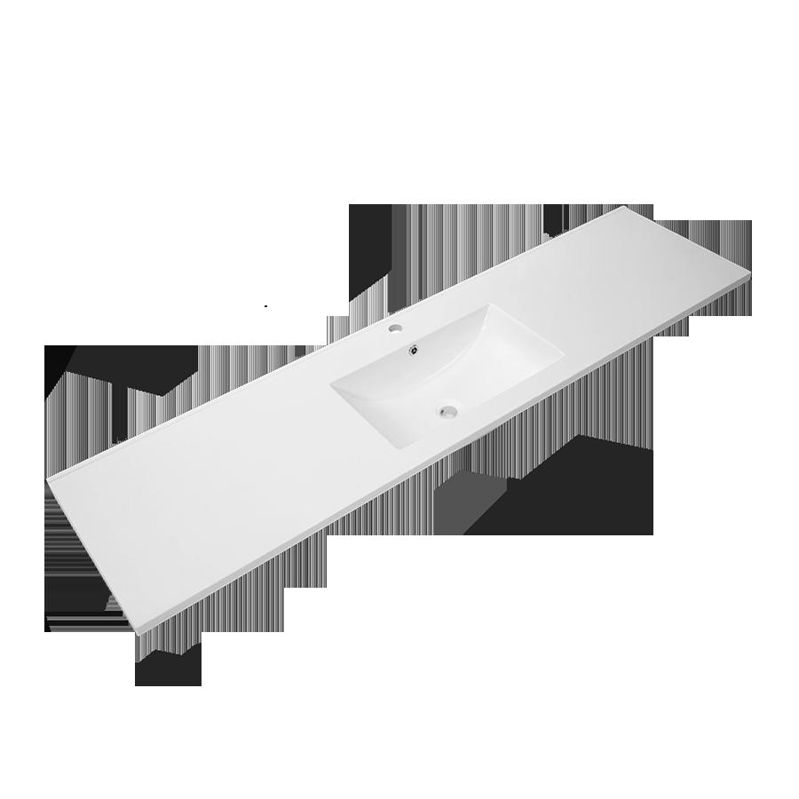 Quadro Polymarble Vanity Top ( Single Bowl / 1800mm)