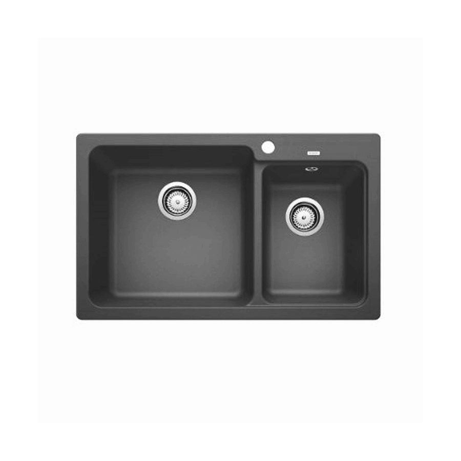 Package blanco naya 175 no drainer sink package grey for Bathroom cabinets 200mm wide