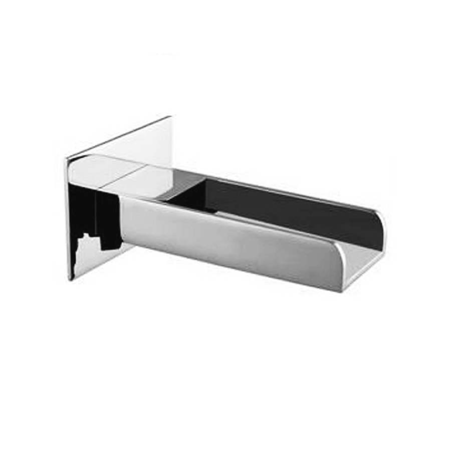 Square cascade chrome fixed bath spout