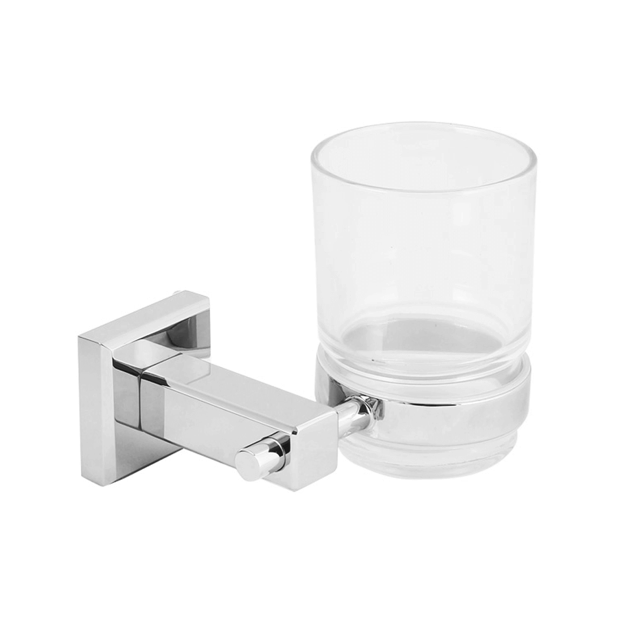 bathroom round tooth brush holder chrome
