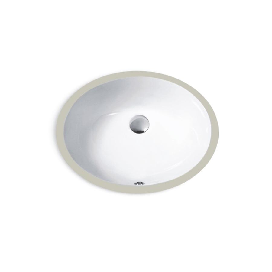Round oval small ceramic undermount basin