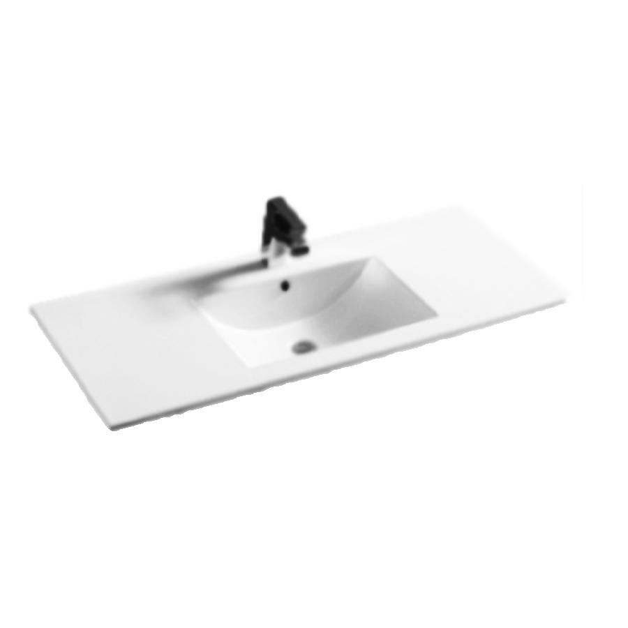 ectangular bowl 1000mm white ceramic vanity top