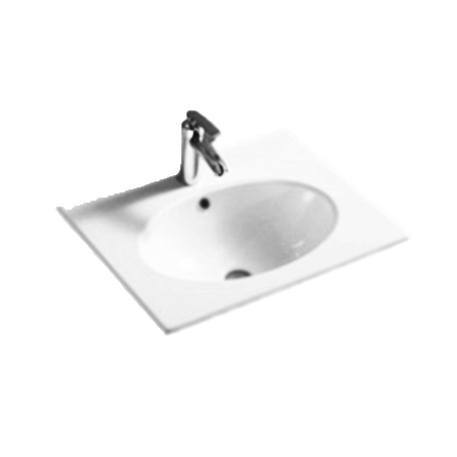 Round bowl 600mm white ceramic vanity top