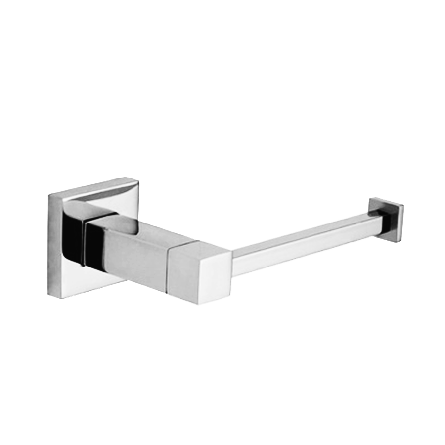 Square stainless steel toilet roll holder