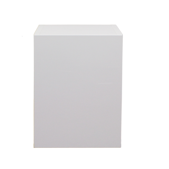 White gloss single door base cabinet 400mm