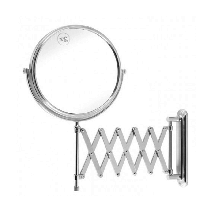 Practical extendable wall mounted magnified shaving mirror