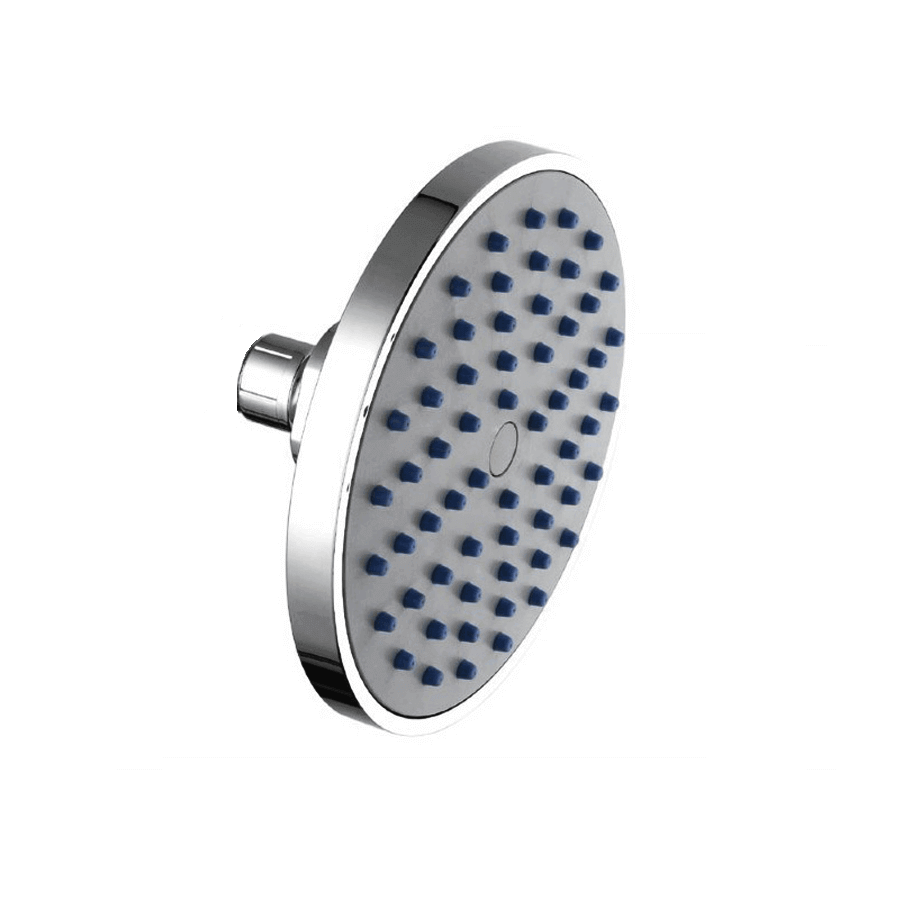 Round chrome single-function shower head