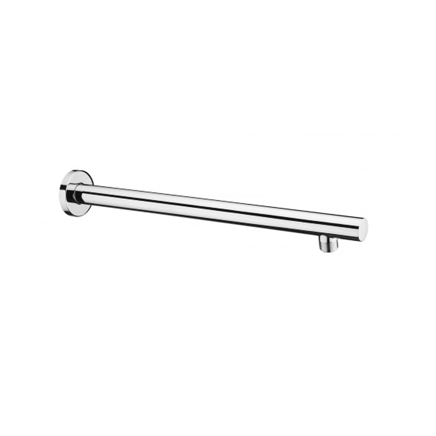 Round fixed chrome shower arm with standard fitting