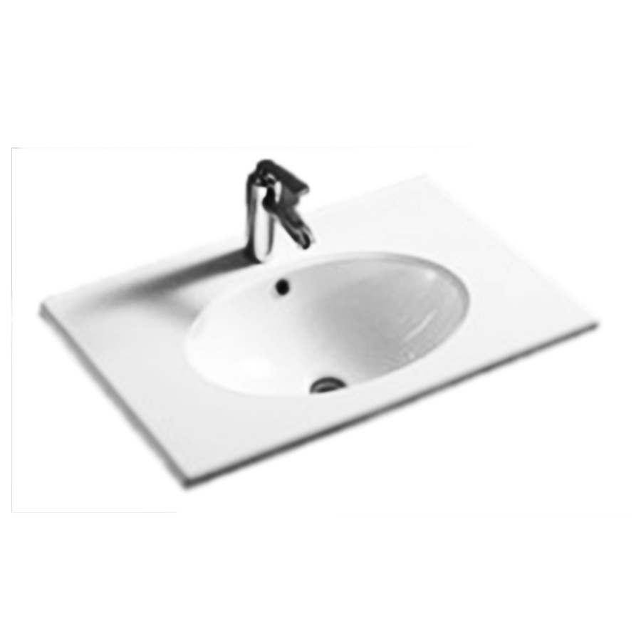 Round bowl 750mm white ceramic vanity top