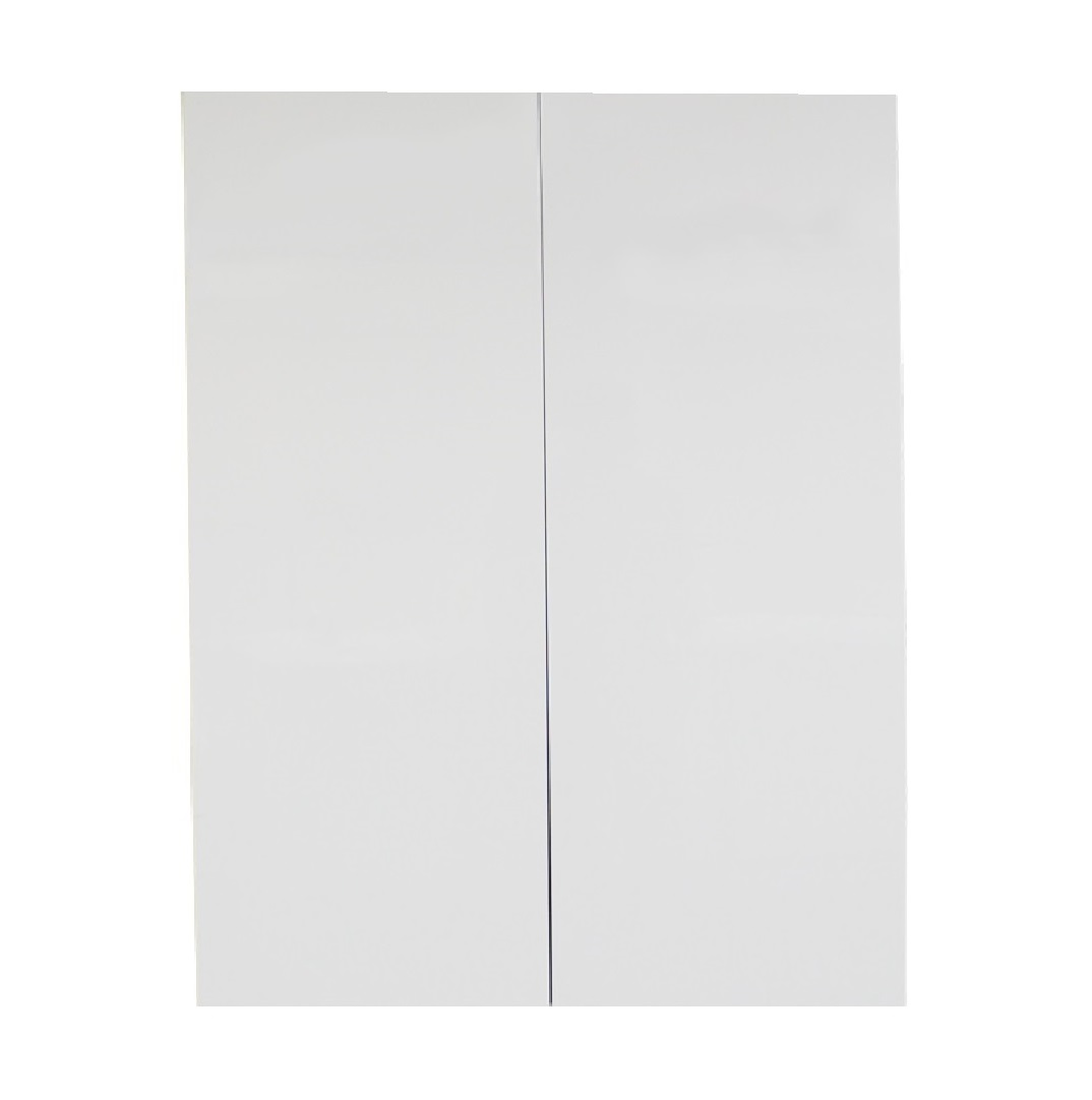 White gloss double door 700mm pantry cabinet