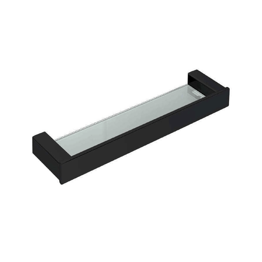 square black glass vanity shelf drawing