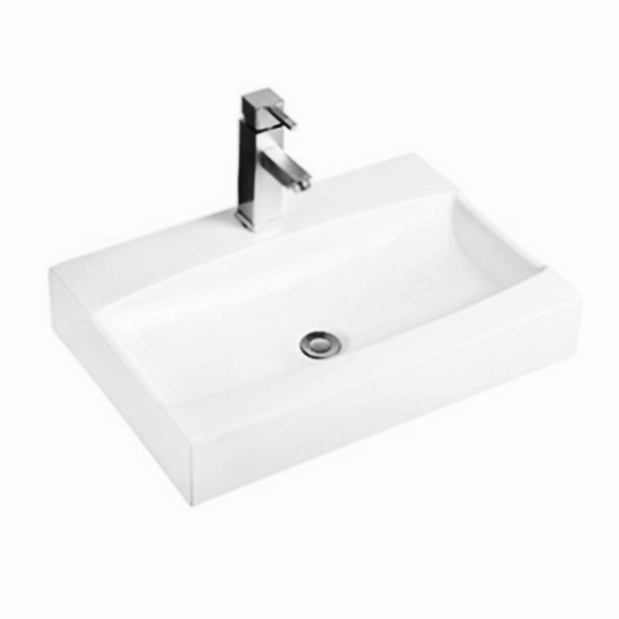 Rectangular ceramic wall hung basin