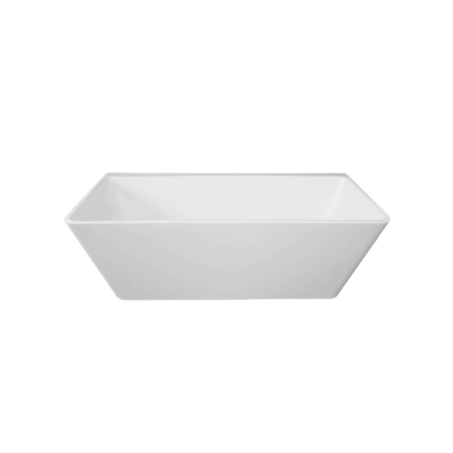 Square white freestanding 1680mm back to wall bath