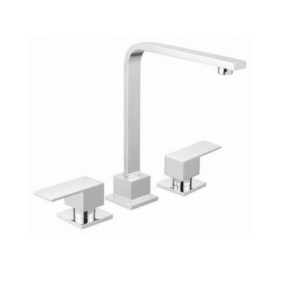 Chrome square taps with swivel spout