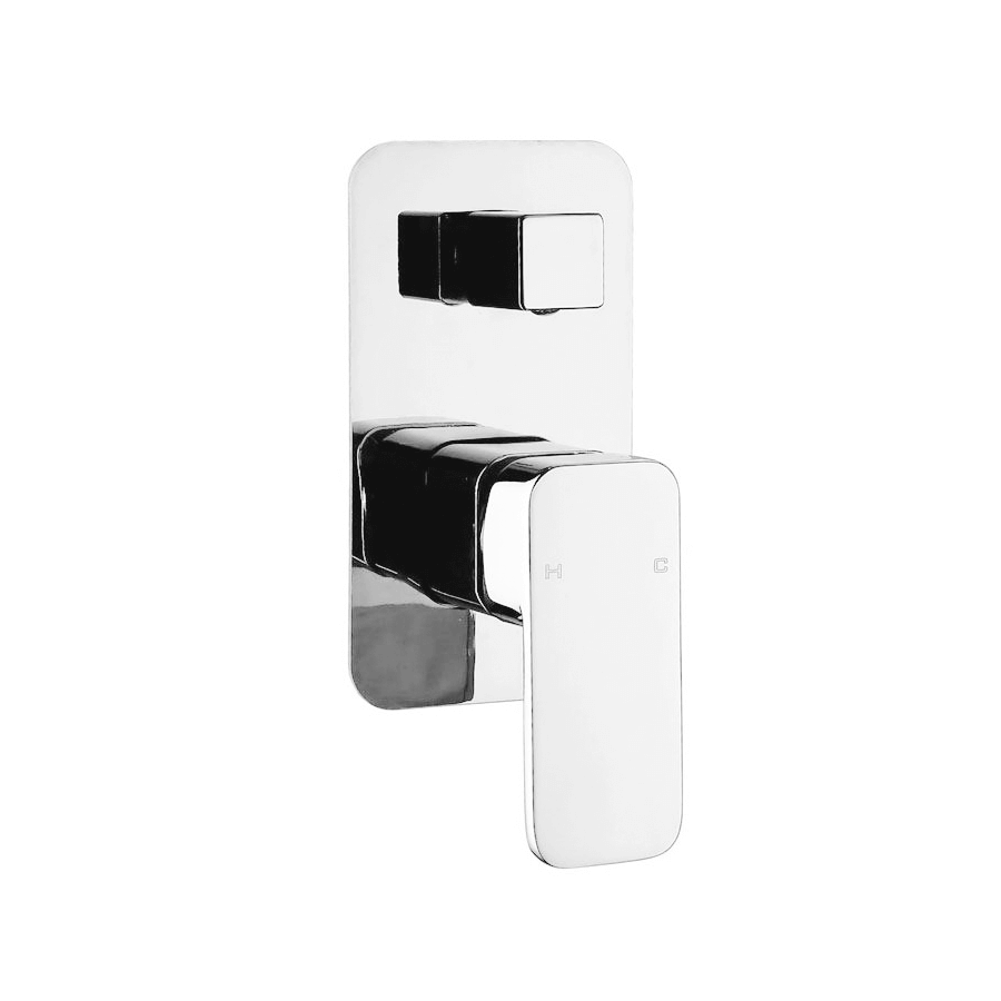 Modern square round chrome bath shower mixer