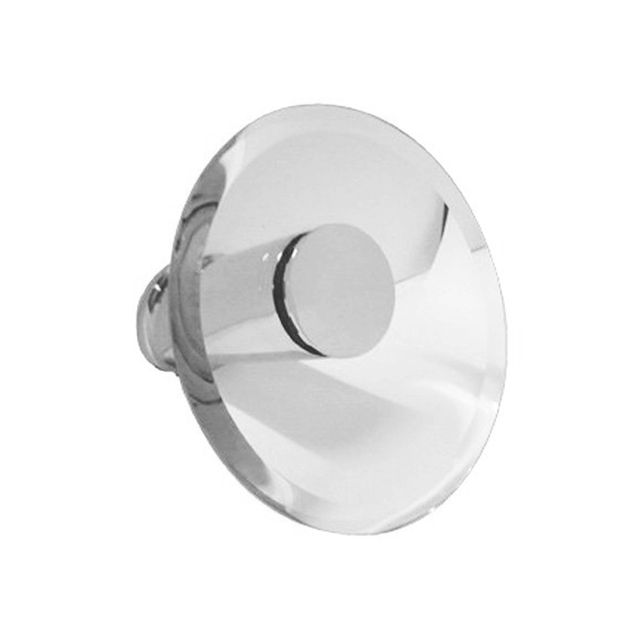 Round cascade chrome and glass fixed bath spout