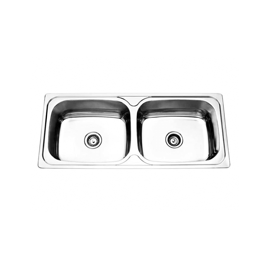Stainless steel double large laundry trough