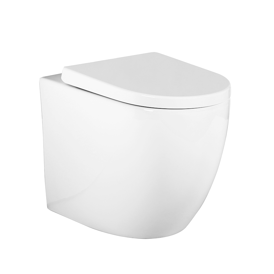 Turin curved toilet pan