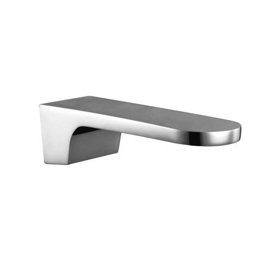 Modern chrome fixed bath spout