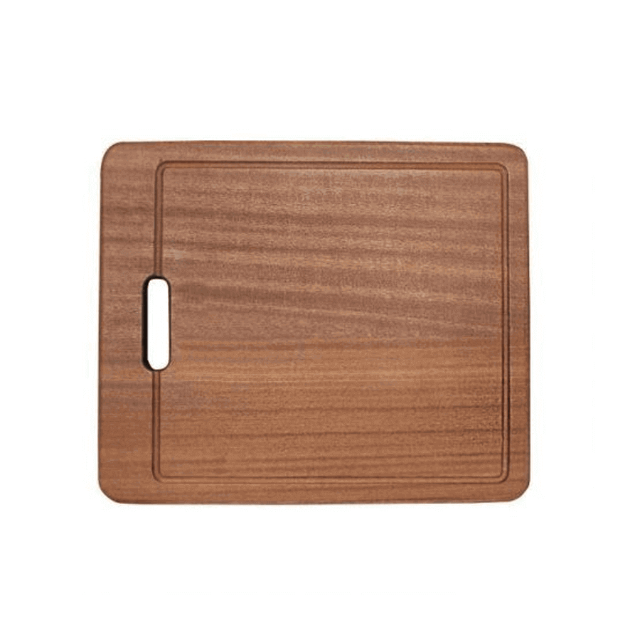 Wooden chopping board with grip hole
