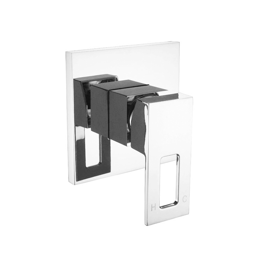 Square chrome bath shower mixer with loop handle
