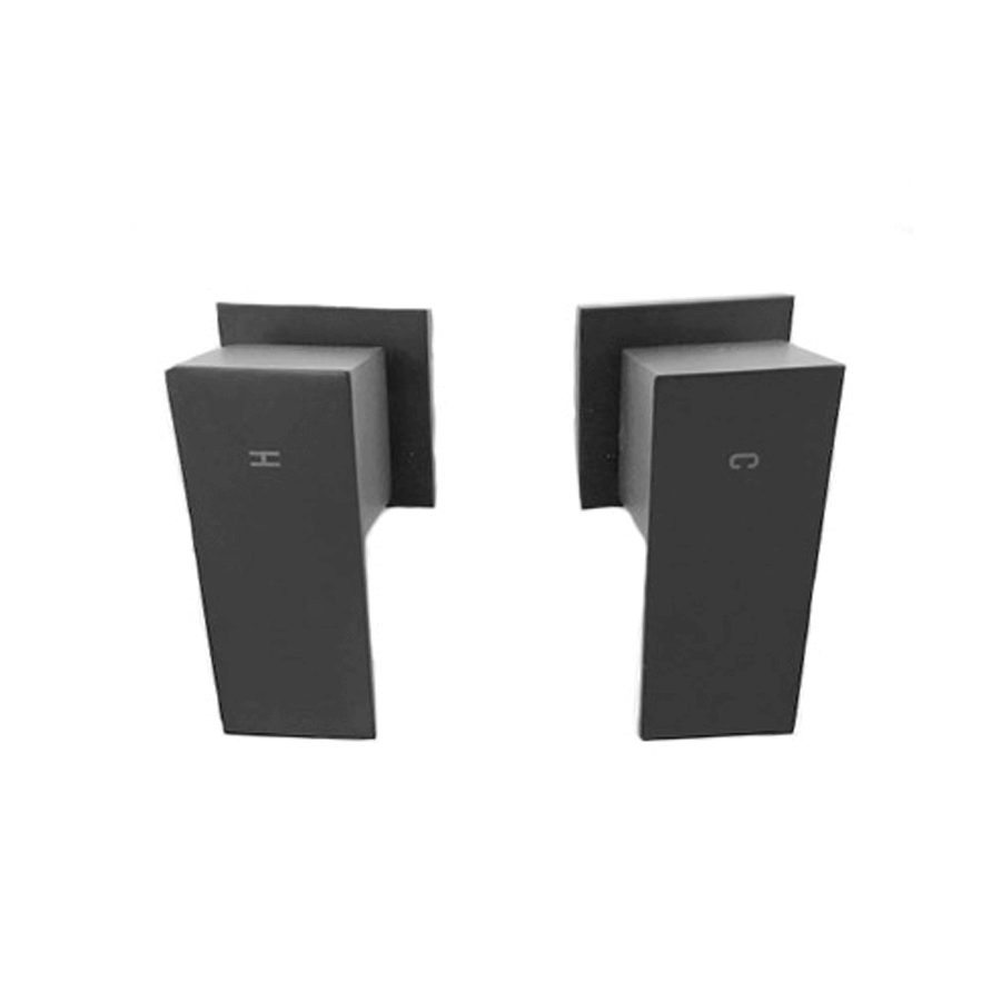 SQUARE WALL TAPS BLACK
